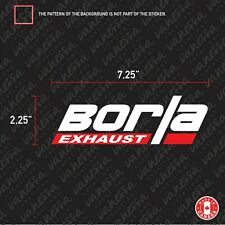 2X  BORLA EXHAUST logo sticker vinyl decal