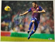 DAVID VILLA Signed 11x14 Photo #4 Auto SPAIN Barcelona NYCFC ~ Beckett BAS COA