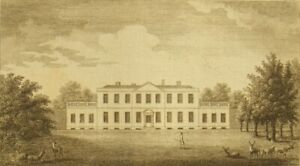 Navestcock Hall, Essex, 230 year old antique original copper engraving;1773