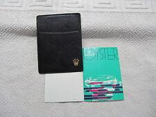 Original Rolex  Cardholder  ( Schwarz ) Translation / Übersetzung  Etui Leder