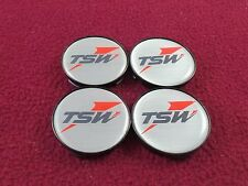 TSW Wheels Silver Custom Wheel Center Caps Set of 4 # BPER