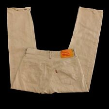 Levi's 501 White Oak Cone Denim Button Fly Jeans - Men's Size 33 x 30, Tan