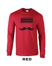 294 Redleg Face Long Sleeve college mustache cincinnati funny baseball machine