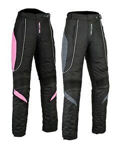 Ladies women Motorcycle Motorbike CE Armoured Waterproof Cordura Trouser Pant