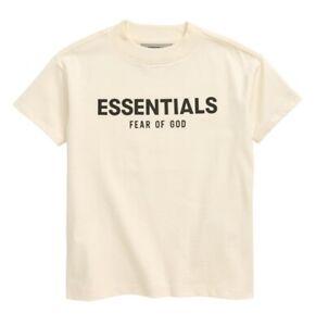 NWT Fear of God Kids' Essentials Logo T-Shirt Buttercream Size Small (6-7)