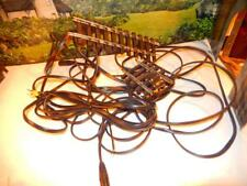 G SCALE - 2 STEEL TRACKS W/APPROX 20' OF HEAVY DUTY WIRE SOLDERED TO THEM- S2