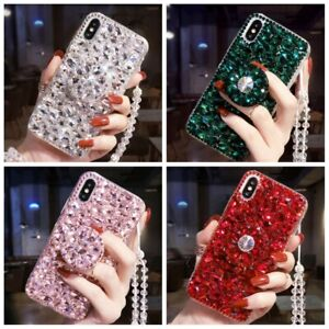 Glitter Bling Diamond Case w/Ring Holder For iPhone 12 Pro Max 11 XS XR 6 7 8