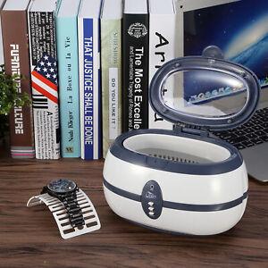 Ultrasonic Cleaner 600ml Watch Cleaning Digital Machine Jewelry Eyeglasses Timer