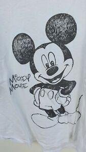 Disney, Damen, Shirt, Mickey Mouse, Größe 50, Weiß