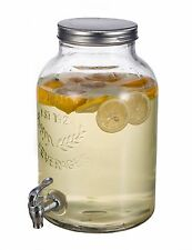 2-Gallon Mason Jar Style Beverage Dispenser Ice Tea Lemonade Holder