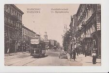 Old Warsaw Postcard Year 1915 Polska. Warszawa Ul. Marchalkowska