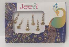 Gold Bindi Bindis Metallic Crystal Bridal # Bindi # Indian Head Tikka # 5 Pack
