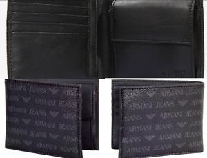 Armani Jeans Monogram Logo Geldbörse Geldbeutel Tasche Wallet Portemonnaie New