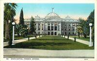 DB Postcard AZ L355 State Capitol Phoenix Arizona Street View Dome Lawn Walkway