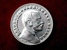 1933 ADOLF HITLER WW2 GERMAN EXONUMIA  REICHSMARK COIN  SILVERED + HOLDER