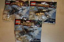 3 x LEGO 30162 PACKS MARVEL AVENGERS SUPER HEROES QUINJET NEW