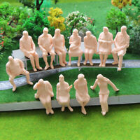 P2516 G Scale Figures 1:25 All Seated Unpainted People Model Train Railway