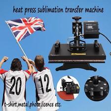 "12X15"" 1000W Presse à Textile Presse Chaud Taille Transfert Impression Pressage"