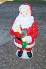 "Empire Plastic Blowmold 40"" Light Up Christmas Santa Claus Outdoor Yard Decor"