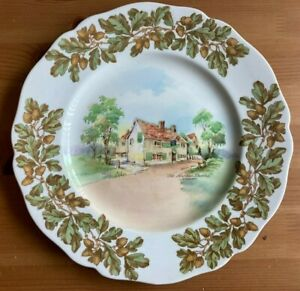 ROYAL DOULTON D6072 OLD ENGLISH INNS THE LEATHER BOFFEL, COBHAM DECORATIVE PLATE