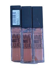 Maybelline Color Sensational Vivid Matte Liquid Lip Color #5 NUDE THRILL X3 Tube