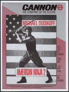 AMERICAN NINJA 2__Original 1986 Trade  AD / poster__Michael Dudikoff_Steve James