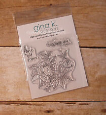 "NEW Gina K ""Peaceful Roses"" Photopolymer Stamp Set"