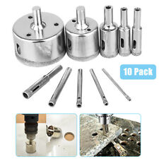 10Pcs 3-50mm Diamond Tool Drill Bit Hole Saw Cutter Glass For Tile Marble Glass