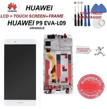 Display LCD HUAWEI P9 EVAL-09 FRAME schermo Originale TOUCH SCREEN BIANCO
