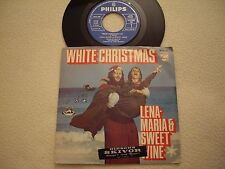 "LENA-MARIA & SWEET WINE - White Christmas / When you wish upon a Star 7"" Sweden"