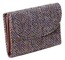 ladies Wallet Purse 100% Harris Tweed Brown/Purple Herringbone Brand New
