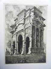 EAU FORTE DE  MAURICE ROBERT 1929  ORANGE