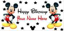 Birthday banner Personalized 4ft x2ft  Mickey Mouse Disney w/ Black Stars