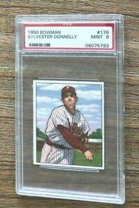 1950 Bowman #176 Sylvester Donnelly Phillies PSA 9 Mint Rare Population 6
