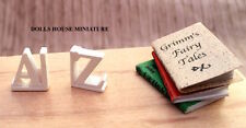 A & Z Bookends & Three Books, Doll House Miniatures 1.12th Scale