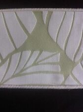 "LAURA ASHLEY  PALM LEAF APPLE 1pr CURTAIN Tie-Backs 26"" Piped  NEW"
