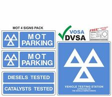 MOT SIGNS | MOT SIGN | VOSA | DVSA | OFFICIAL MOT 4 SIGNS PACK + FREE GIFT