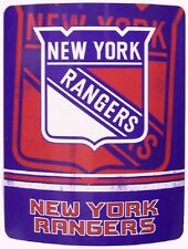 "Blanket Fleece Throw NHL New York Rangers NEW 50""x60"" with protective sleeve"