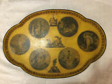 Late 19th Century French Tole Tray George III Period Allegorical Scenes