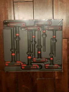*NEW* Snap On AWSG800A 8 Pc (SAE) T-Handle/L-Shaped Hex Combo Soft Grip
