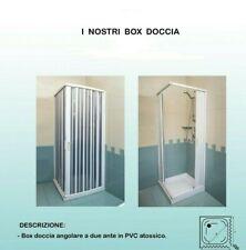BOX DOCCIA CM 80X80 h185 2 ANTE CHIUSURA AD ANGOLO A SOFFIETTO IN PVC BIANCO