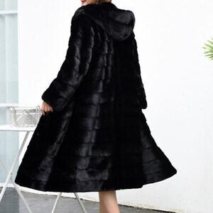 Mantel Pelz Kaninchen schwarz