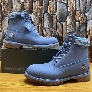 Timberland Men's Premium Waterproof Boot Light Blue Nubuck Style A27K2 Size 10.5