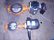 """PNEUMATIC/HYDRAULIC ACTUATED 6"""" POWERED BUTTERFLY VALVE INDUSTRIAL PROCESSING"""