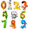 Animal Number Foil Balloons Kids Party Birthday Wedding Decor Ballon Child Gift