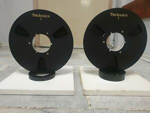 Lot of 2 Technics 35-180 NAB Aluminium Spool 26,5cm Reel to Reel