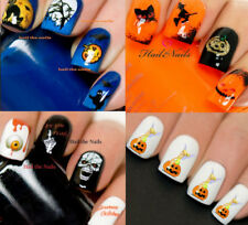 Halloween Nail Nails Art Water Transfer Decal Wraps Stickers