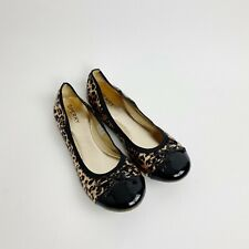 Sperry Top Sider Women's Animal Print Bow Leather Ballet Flats Size 5 M