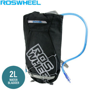 Roswheel Cycling Hydration Pack with 2L Water Bladder - Black (41x21x4cm)