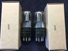 2 NOS Sylvania 6SN7GT Bad Boy Grey Plate  Audio Tubes USA '50's